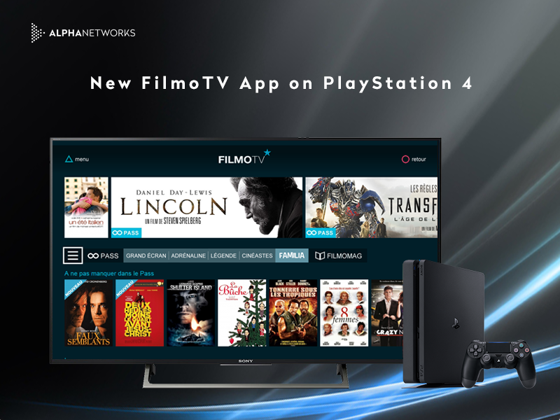 Launch of FilmoTV App on PS4